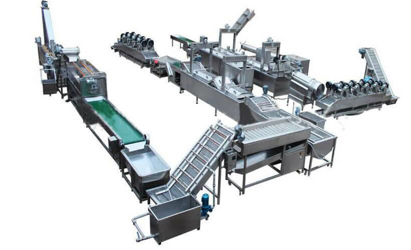 Схема линии по производству чипсов
