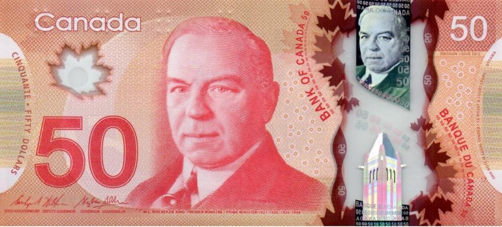 50 канадских долларов