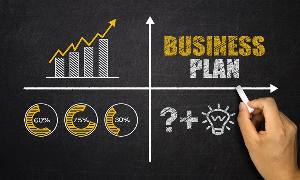 Бизнес план на доске.