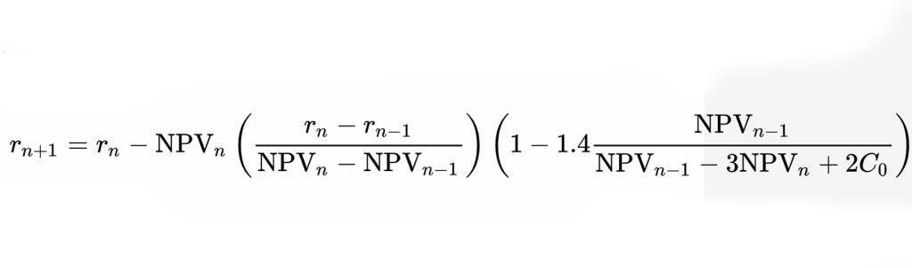 IRR формула расчета