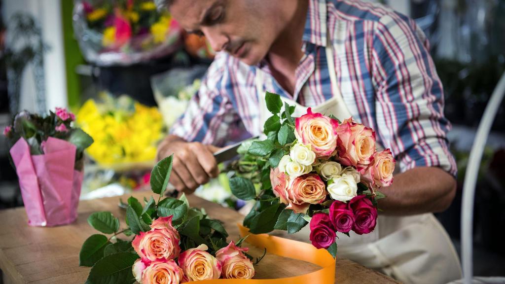 Мужчина флорист