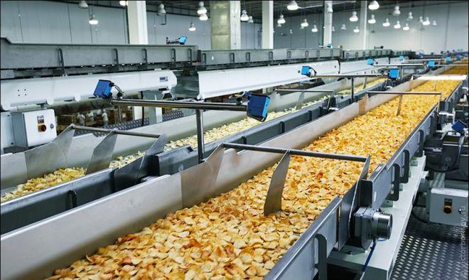 Цех по производству чипсов
