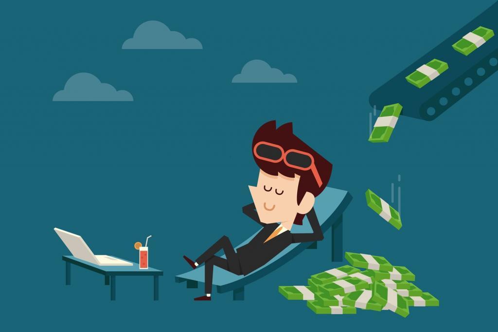 Парень получает пассивный доход.