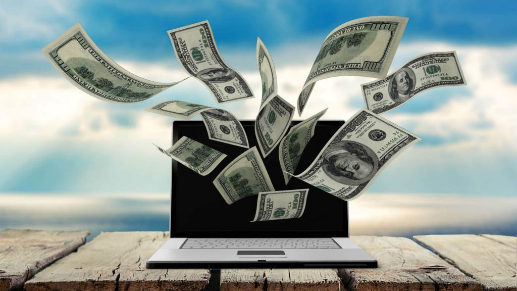 Деньги вылетают из компьютера.