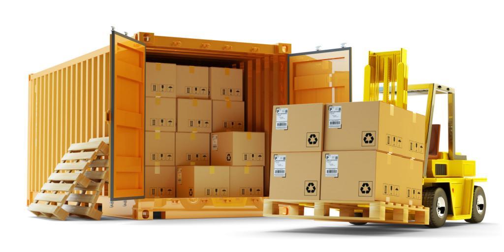 Товар в контейнере