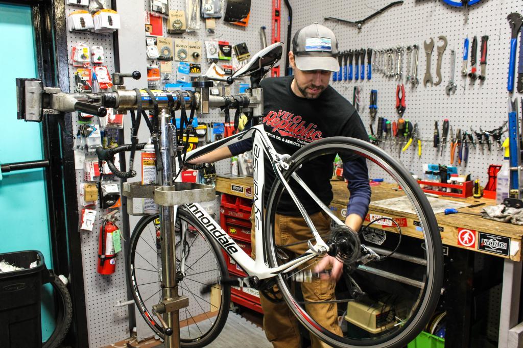 Ремонт велосипедов в Америке.