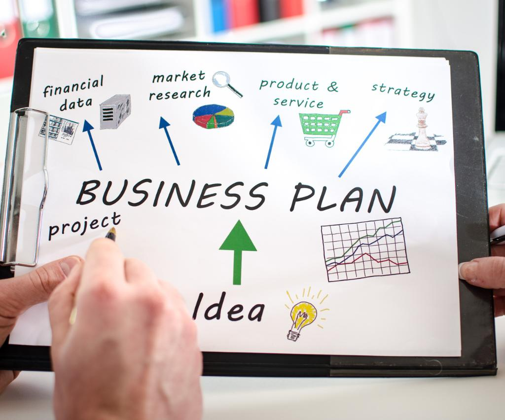 Бизнес-план на бумаге.