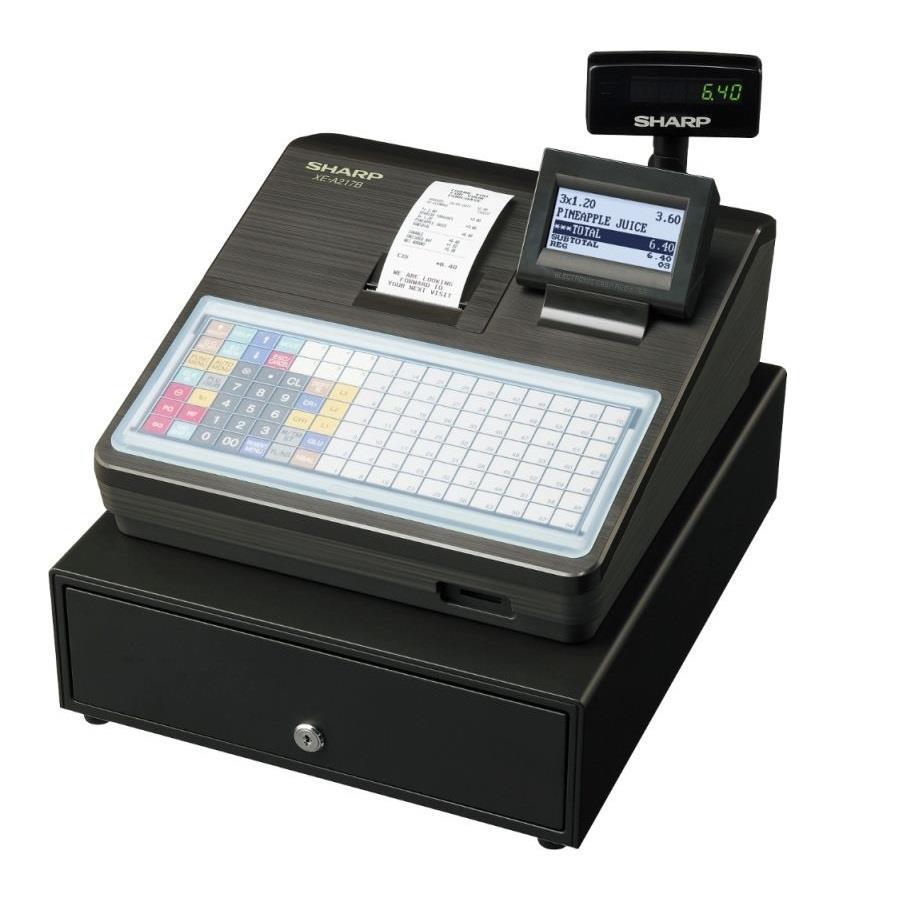 Контрольно-кассовый аппарат с отделением для хранения денег