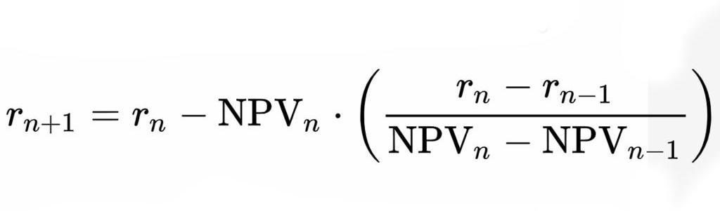 IRR формула