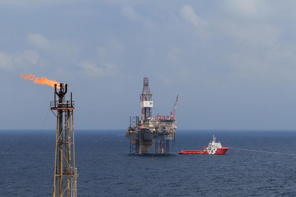 Добыча газа в море