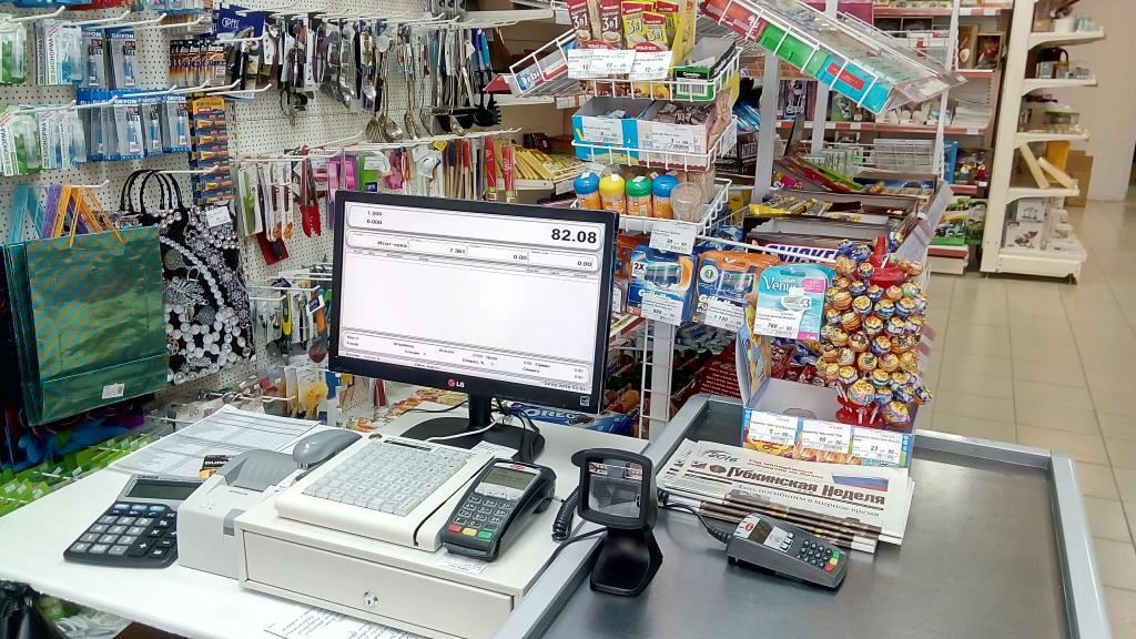 кассовый аппарат в магазинах в розницу