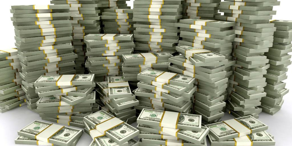 Огромная куча денег.
