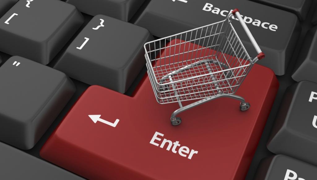 Тележка для покупке на кнопке Enter.