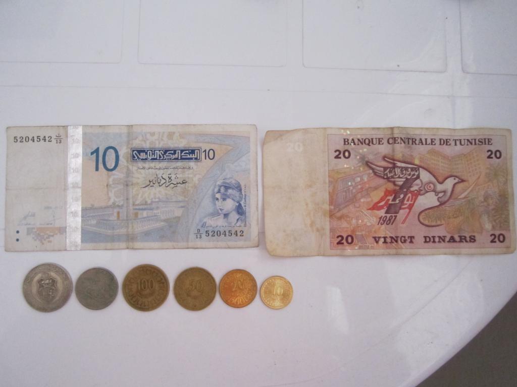 Реальное фото денег Туниса