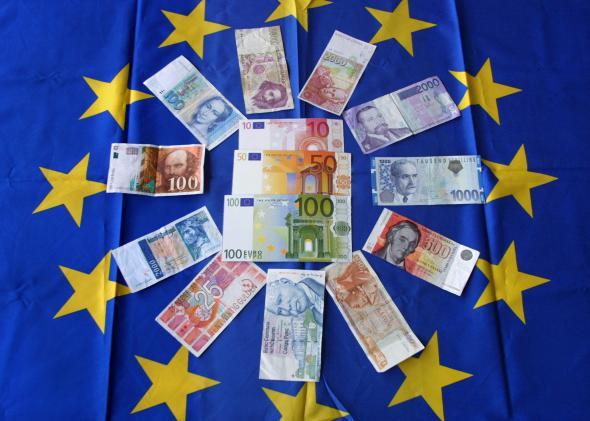 разные европейские валюты