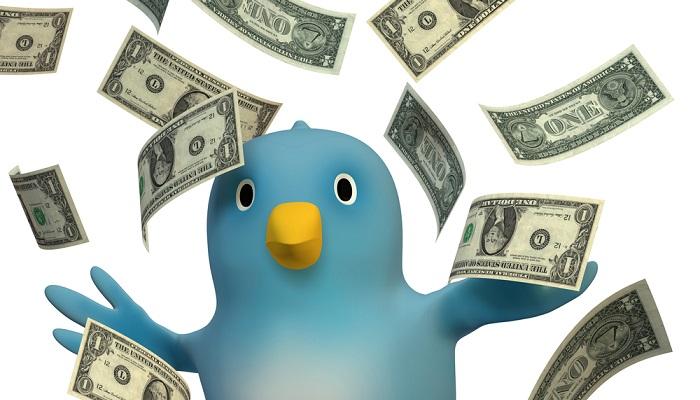 Богатая птичка Твиттера.